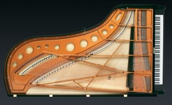 Following form and function, grand pianos have an unusual shape that poses various challenges when moving.